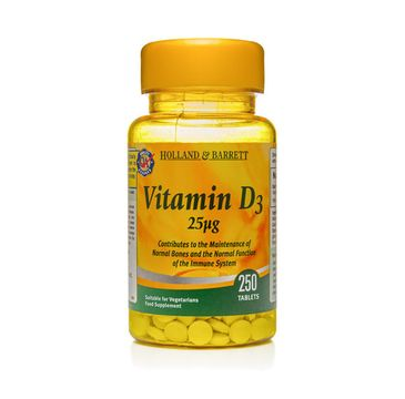 Holland & Barrett Witamina D3 25ug suplement diety 250 tabletek