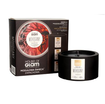 House Of Glam Modułowa Świeca zapachowa Mohogany & Teakwood 200 g