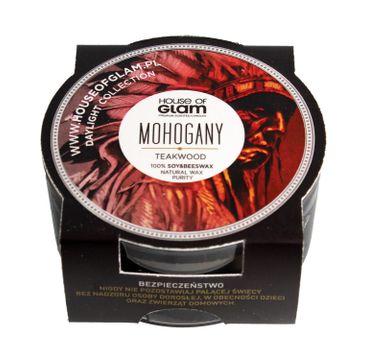 House Of Glam Świeca zapachowa mini Mohogany & Teakwood  45g