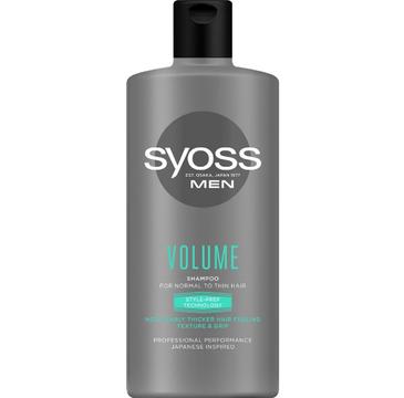 Syoss Men Volume Shampoo – szampon nadający objętość do włosów normalnych i cienkich (440ml)