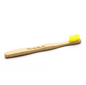 Humble Bambusowa szczoteczka do zębów dla dzieci miękka żółta