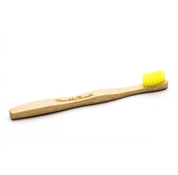 Humble Brush Bambusowa szczoteczka do zębów dla dzieci miękka żółta