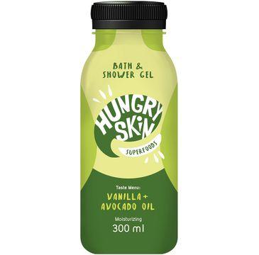 Hungry Skin Bath & Shower Gel żel pod prysznic nawilżający Wanilia i Awokado (300 ml)