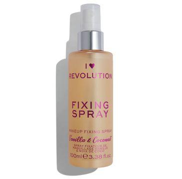 I Heart Revolution Fixing Spray – mgiełka utrwalająca makijaż Vanilla Bean & Coconut (100 ml)