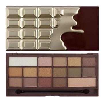 Makeup Revolution I Heart Revolution Chocolate Golden Bar – paleta cieni do powiek (22 g)