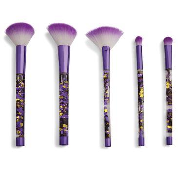 I Heart Revolution Fortune Seeker Purple Glitter Brush Set – zestaw pędzli do makijażu