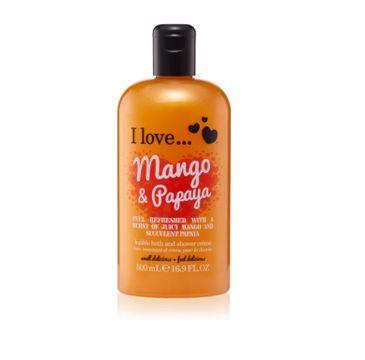 I Love Bath & Shower Creme krem pod prysznic i do kąpieli Mango & Papaya 500ml