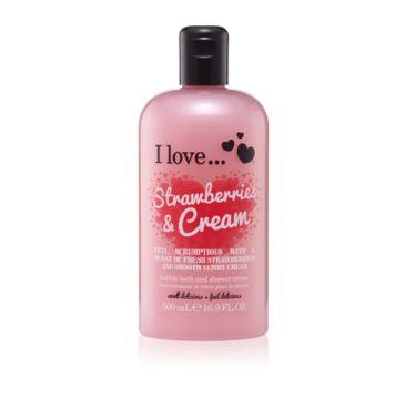 I Love Bath & Shower Creme krem pod prysznic i do kąpieli Raspberry & Cream 500ml