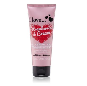 I Love Super Soft Hand Lotion krem do rąk Strawberries & Cream 75ml