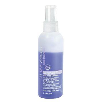 Inebrya Ice Cream Age Therapy Bi-Phase Blonde Conditioner dwufazowa odżywka do włosów blond (200 ml)