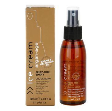 Inebrya – Ice Cream Argan-Age Frizz-Free spray zapobiegający puszeniu się włosów (100 ml)