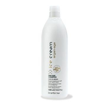 Inebrya – Ice Cream Argan-Age Pro-Age Shampoo szampon oczyszczający z olejkiem arganowym (1000 ml)