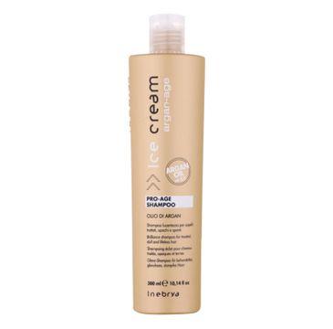 Inebrya – Ice Cream Argan-Age Pro-Age Shampoo szampon oczyszczający z olejkiem arganowym (300 ml)