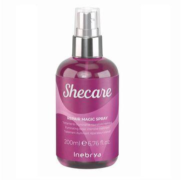 Inebrya Shecare Repair Magic Spray intensywna kuracja rozświetlająco - naprawcza do włosów zniszczonych zabiegami chemicznymi (200 ml)
