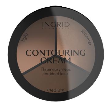 Ingrid – Ideal Face kremowy zestaw do konturowania twarzy (18 g)
