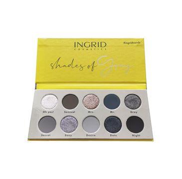 Ingrid Shades of Gray paleta cieni do powiek (15 g)