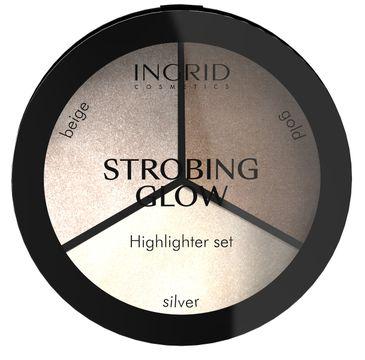 Ingrid – Strobing Glow Paleta pudrowych rozświetlaczy do twarzy (15 g)