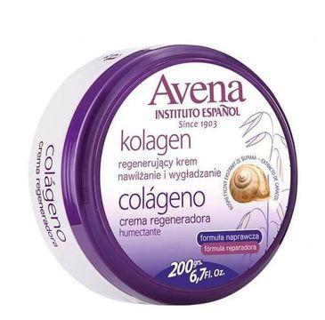 Instituto Espanol Avena Collagen Regeneration Cream regenerujący krem do ciała z kolagenem 200g