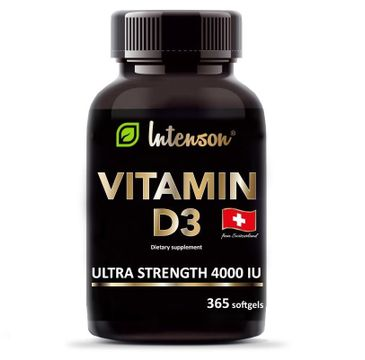 Intenson Witamina D3 4000 IU suplement diety (365 kapsułek)