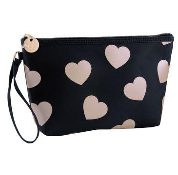 KillyS Romantic Hearts kosmetyczka średnia Czarna (1 szt.)