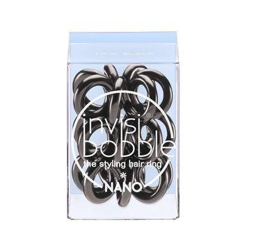 Invisibobble Nano Styling Hair Rings gumki do włosów True Black 3szt