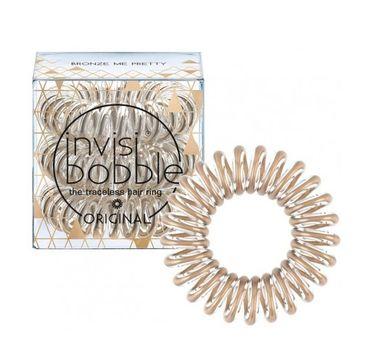 Invisibobble Original Hair Ring gumki do włosów Bronze Me Pretty 3szt