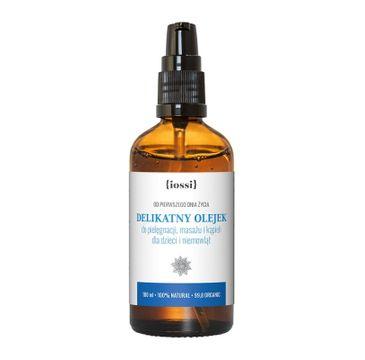 Iossi Delikatny olejek do pielęgnacji masażu i kąpieli dla dzieci i niemowląt (100 ml)