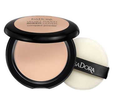 Isadora Velvet Touch Sheer Cover Compact Powder matujÄ…cy puder prasowany 43 Cool Sand (7.5 g)