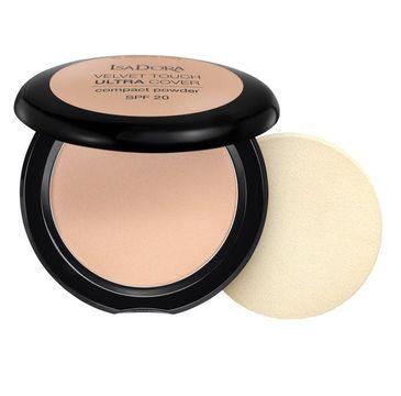 Isadora Velvet Touch Ultra Cover Compact Powder SPF20 kryjÄ…cy puder prasowany 63 Cool Sand (7.5 g)
