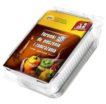 Jan Niezbędny foremki aluminiowe do pieczenia i zamrażania 3 szt.