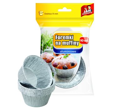 Jan Niezbędny Foremki aluminiowe do pieczenia muffinek 1op.-10szt