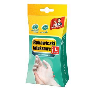 Jan Niezbędny rękawiczki lateksowe L jednorazowe 10 szt.