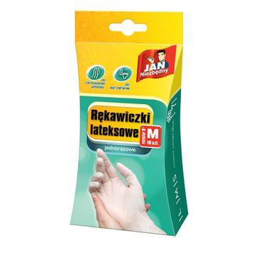 Jan Niezbędny rękawiczki lateksowe M jednorazowe 10 szt.