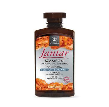 Jantar szampon do włosów suchych i łamliwych wzmacniający 330 ml