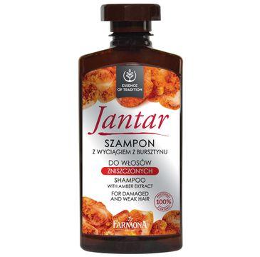 Jantar szampon do włosów zniszczonych z wyciągiem bursztynu i witaminami 310 ml