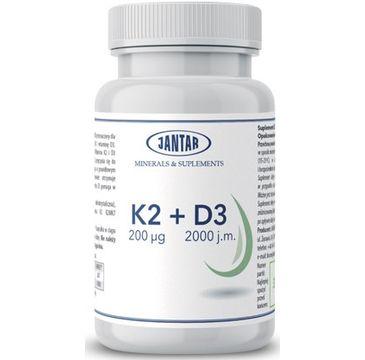 Jantar Witamina K2 200µg + D3 2000IU suplement diety 90 kapsułek