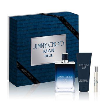 Jimmy Choo Man Blue zestaw woda toaletowa spray 100ml + woda toaletowa spray 7.5ml + balsam po goleniu 100ml