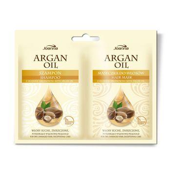 Joanna Argan Oil Duo szampon i maseczka w saszetce odżywiający zestaw 10 ml +10 g