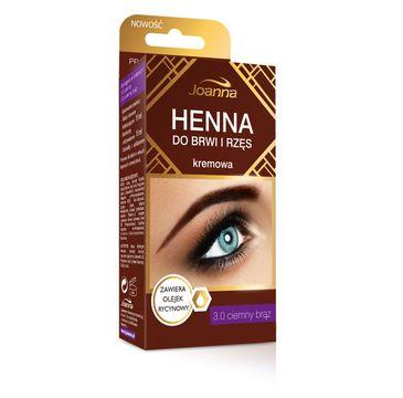 Joanna Henna do brwi i rzęs kremowa nr 3.0 ciemny brąz 15 ml