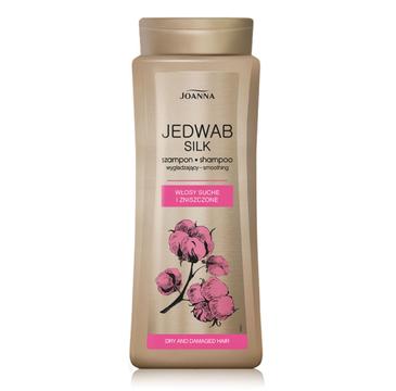 Joanna Jedwab Silk szampon do włosów zniszczonych wygładzający (400 ml)