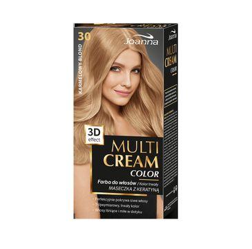 Joanna Multi Cream Color farba do każdego typu włosów nr 30 karmelowy blond 120 ml