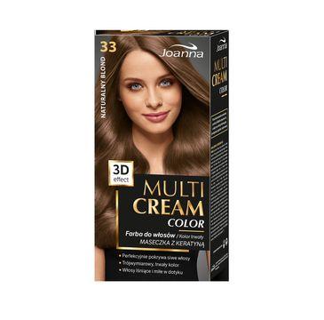 Joanna Multi Cream Color farba do każdego typu włosów nr 33 naturalny blond 120 ml