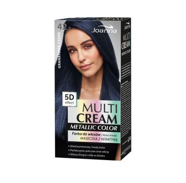 Joanna Multi Cream Metallic Color Farba do włosów nr 42.5 Granatowa Czerń 1op.