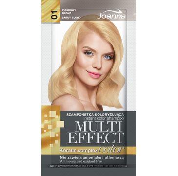 Joanna Multi Effect Color Keratin Complex szamponetka do każdego typu włosów 01 piaskowy blond 35 g
