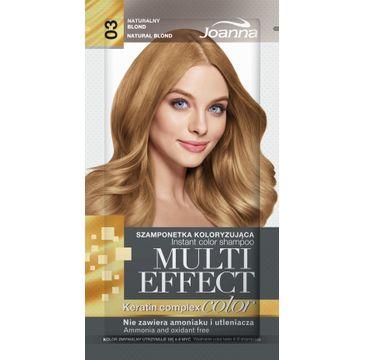 Joanna Multi Effect Color Keratin Complex szamponetka do każdego typu włosów 03 naturalny blond 35 g