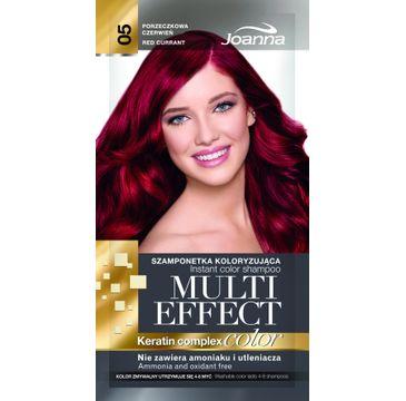 Joanna Multi Effect Color Keratin Complex szamponetka do każdego typu włosów 05 porzeczkowa czerwień 35 g