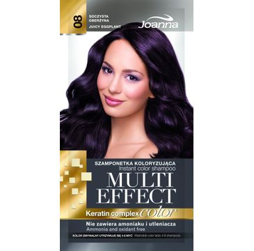 Joanna Multi Effect Color Keratin Complex szamponetka do każdego typu włosów 08 soczysta oberżyna 35 g
