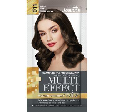 Joanna Multi Effect Color Keratin Complex szamponetka do każdego typu włosów 11 kawowy brąz 35 g