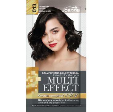 Joanna Multi Effect Color Keratin Complex szamponetka do każdego typu włosów 13 hebanowa czerń 35 g