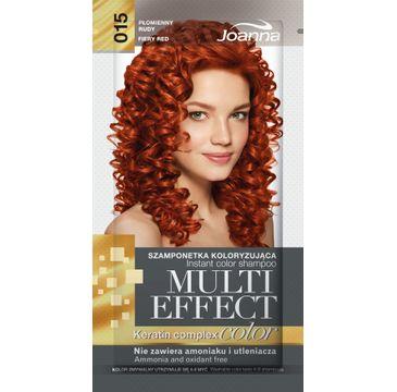 Joanna Multi Effect Color Keratin Complex szamponetka do każdego typu włosów 15 płomienny rudy 35 g